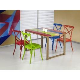 Halmar GARMIN jídelní stůl, vícebarevný/dub medový