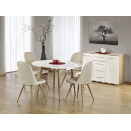 EDWARD rozkládací stůl, bílá/dub medový