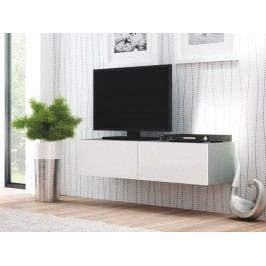 Halmar LIVO RTV-160W televizní stolek visící, šedá/bílá