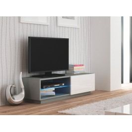 Halmar LIVO RTV-120S televizní stolek stojící, šedá/bílá