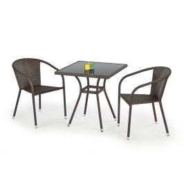Halmar Stůl MOBIL, tmavě hnědá/černá