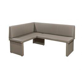 MODERN rohová lavice, levá, capucino ekokůže