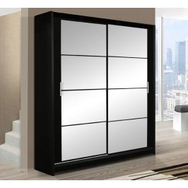 Šatní skříň DAKOTA 160 černá