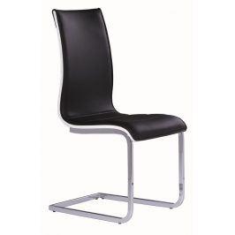 Jídelní čalouněná židle H-133, černá/bílá