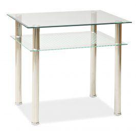 Smartshop Jídelní stůl PIXEL 100x60 cm, kov/sklo