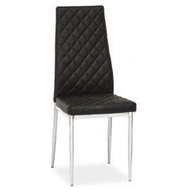 Jídelní čalouněná židle H-262, černá
