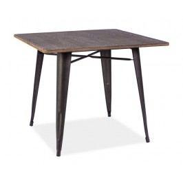 Smartshop Jídelní stůl ALMIR, ořech/šedá