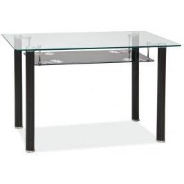 Smartshop Jídelní stůl PINO, kov/sklo
