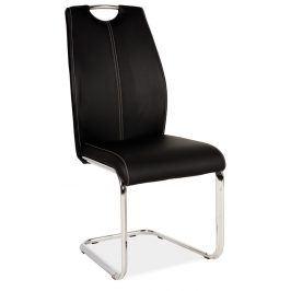Jídelní čalouněná židle H-664, černá