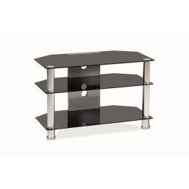 Smartshop Televizní stolek TV-031 - černé sklo/kov