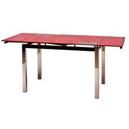 Smartshop Jídelní stůl GD-017 rozkládací, červená