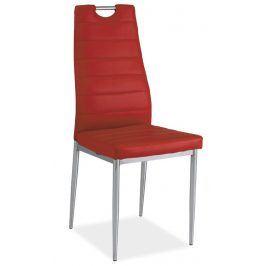 Jídelní čalouněná židle H-260, červená/chrom