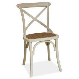 Jídelní dřevěná židle LARS, bílá