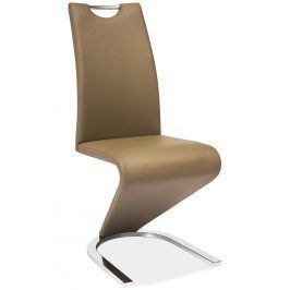 Jídelní čalouněná židle H-090, cappuccino/chrom