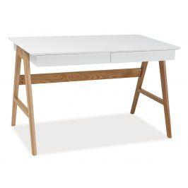 Psací stůl SCANDIC B1 bílá/dub Psací stoly