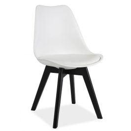 Jídelní židle KRIS II, bílá/černá