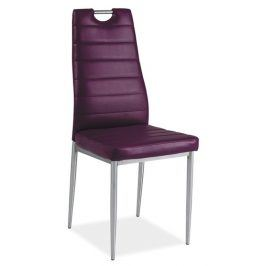 Jídelní čalouněná židle H-260, fialová/chrom