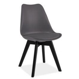 Jídelní židle KRIS II, šedá/černá