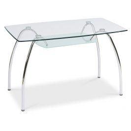 Smartshop Jídelní stůl ARACHNE I, sklo/chrom
