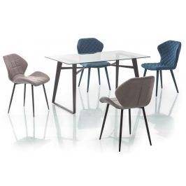 Jídelní stůl BOLT, sklo/kov