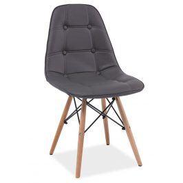 Jídelní židle AXEL, šedá ekokůže