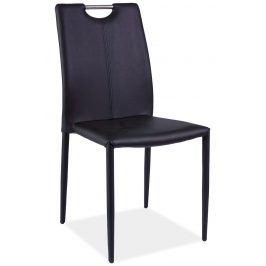 Jídelní čalouněná židle H-322, černá