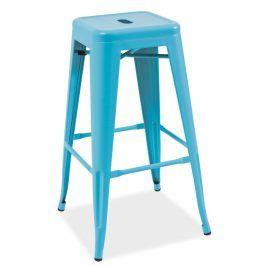 Barová židle LONG, modrá