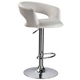 Barová židle KROKUS C-328, bílá