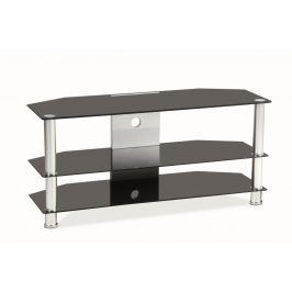Televizní stolek TV-032 - černé sklo/kov