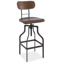 Barová židle DROP, ořech/kov