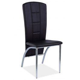 Jídelní čalouněná židle H-120, černá