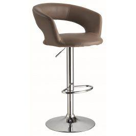 Barová židle KROKUS C-328, tmavě hnědá