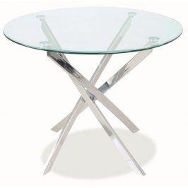 Smartshop Jídelní stůl AGIS, sklo/chrom
