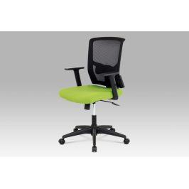 Kancelářská židle KA-B1012 GRN, látka zelená + černá, houpací mechnismus Kancelářská křesla