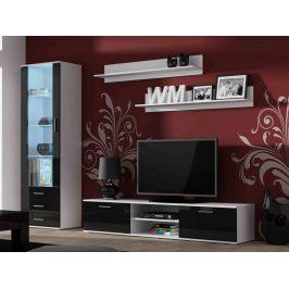 SOHO, obývací pokoj - sestava 1, bílý mat/černý lesk