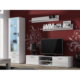 SOHO, obývací pokoj - sestava 1, bílý mat/bílý lesk