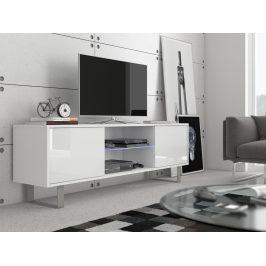 KING 2 TV stolek, bílá/bílý lesk