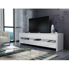 MORAVIA FLAT FOX televizní stolek, bílá/bílý lesk