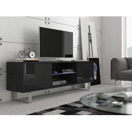 MORAVIA FLAT KING 2 TV stolek, černá/černý lesk