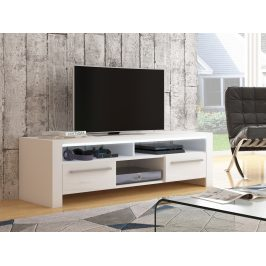 ROCKY televizní stolek, bílá/bílý lesk