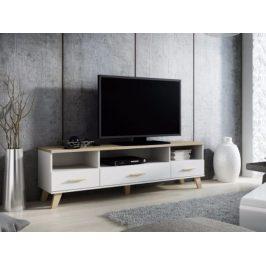 LOTTA televizní stolek RTV 180 3S3K, bílá/dub sonoma Stolky pod TV