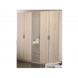 DEMEYERE GIORGIA skříň se zrcadlem, dub arizona/jíl
