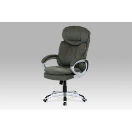 Kancelářská židle KA-G198 GREY2, šedá látka/stříbro-šedá konstrukce, houpací mechanismus