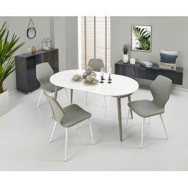 Halmar Jídelní stůl rozkládací CRISPIN, 160/200x90 cm, bílá/šedá