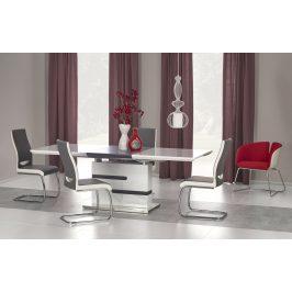 Halmar Jídelní stůl rozkládací MONACO 160/220x90 cm, bílá/šedá