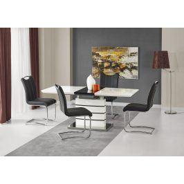 Halmar Jídelní stůl rozkládací NORD 140/180x80 cm, bílá/černá