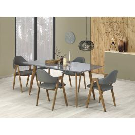 Halmar Jídelní stůl rozkládací RUTEN, 160/200x90 cm, šedý/dub medový
