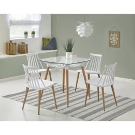 Halmar Jídelní stůl TONIC, 80x80 cm, bílý/buk