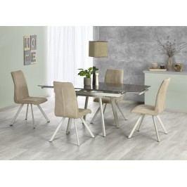 Halmar Jídelní stůl rozkládací TURION, 120/180x80 cm, béžový/khaki