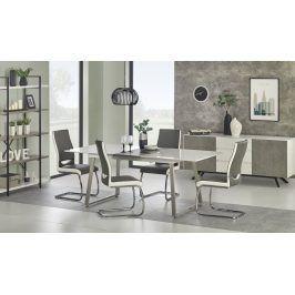 Jídelní stůl rozkládací THOMAS, 160/200x90 cm, bílý/šedý